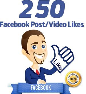 250 Facebook Post/Video Likes