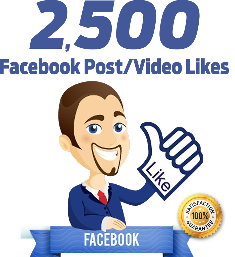 2.500 Facebook Post/Video Likes