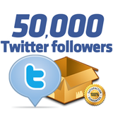50,000 Twitter Followers