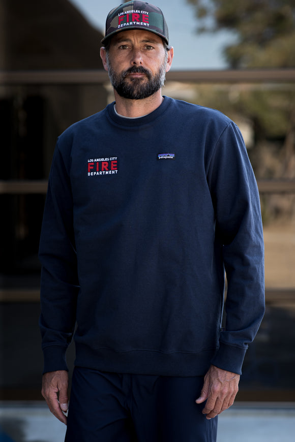 Custom Patagonia P-6 Label Uprisal Crew Sweatshirt - Navy