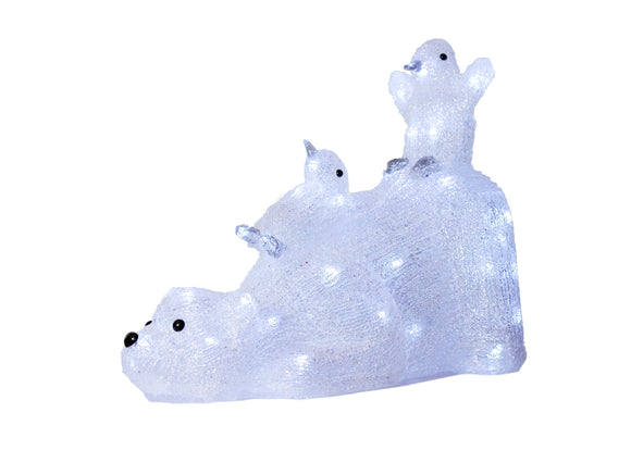 Light up Polar Bear with Penguins