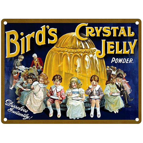 Bird's Crystal Jelly Enamelled Metal Wall Sign