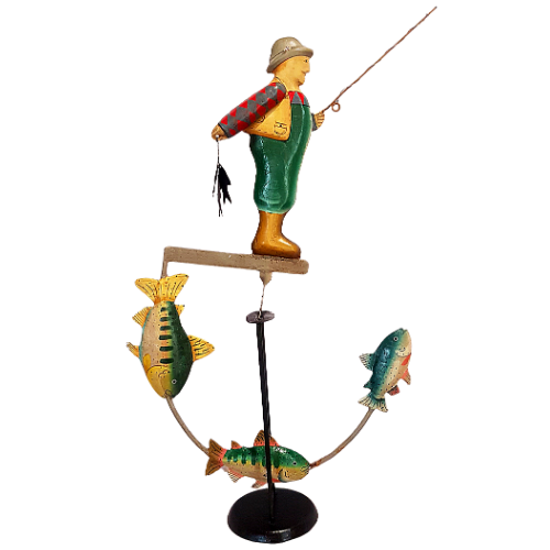 A Day On The Rocks Fly  Fishing Balance Curio