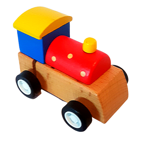 House Of Marbles Wind Up Wooden Train