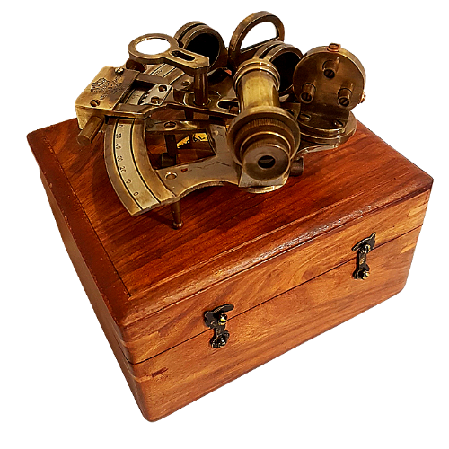 Nautical Sextant in Wooden Box