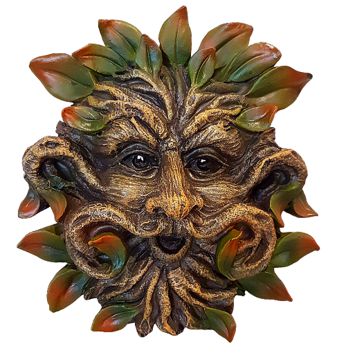 Green Man Autumn  Wall Plaque