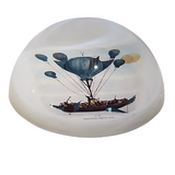 Sailing The Sky's Glass Paperweight