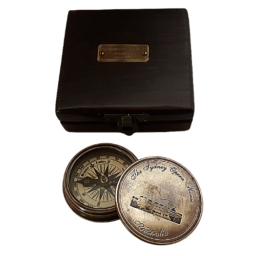 The Sydney Opera House Australia Brass Compass