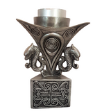 Celtic Gothic Dragon Candle Holder