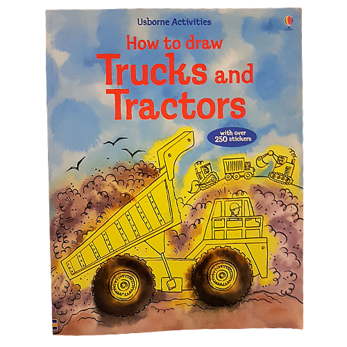 How To Draw Trucks and Tractors - Paperback Book Educational