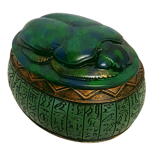 Egyptian Scarab Beetle Trinket Box