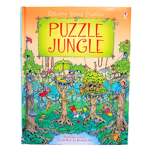Puzzle Jungle Children's Hardcover Book