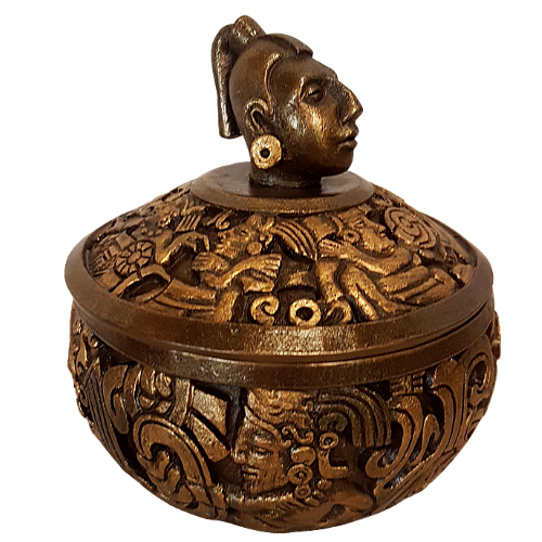 Mayan Portrait Trinket Box