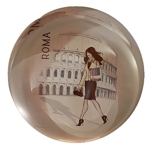 Rome Glass Paperweight