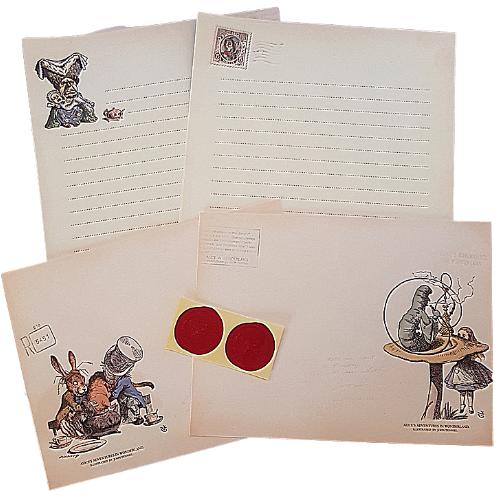 Alice In Wonderland Letter Set