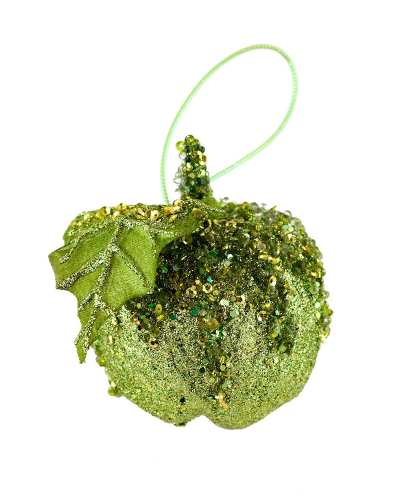 Green Apple Christmas Ornament