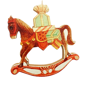 Rocking Horse Christmas Tree Ornament