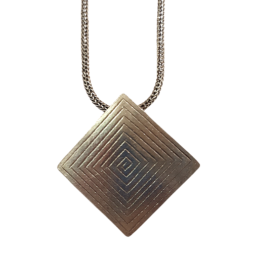 Geometric Style Sterling Sliver Necklace