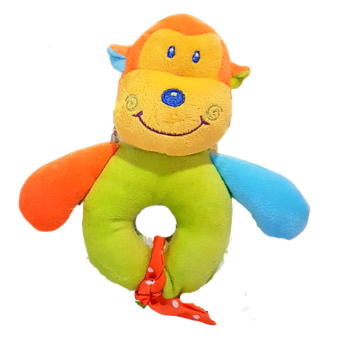 Rainbow Monkey Rattle