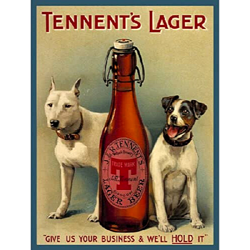 Tennent's Larger Tin Sign