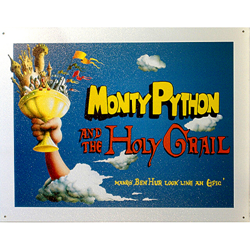 Monty Python and The Holy Grail Tin Sign