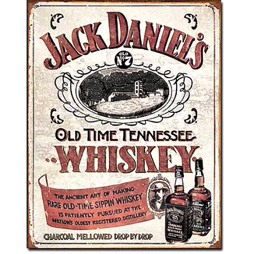 Jack Daniel's Whiskey Tin Sign
