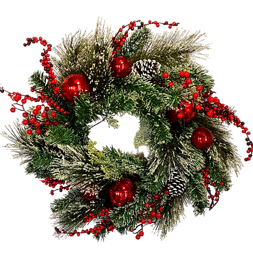 Red Frost Berry Christmas Wreath