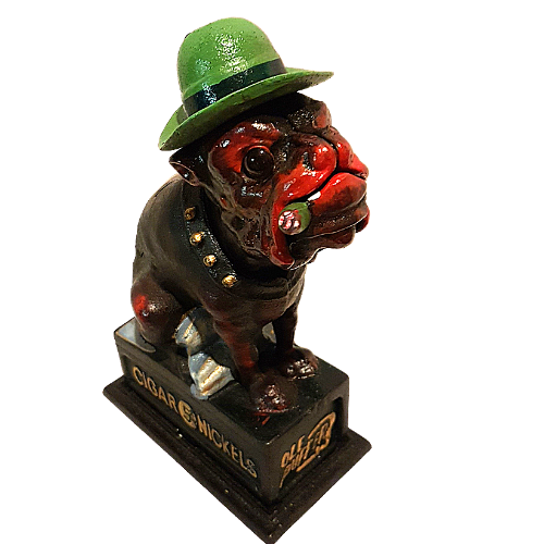 Cast Iron Carnival Bull Dog Money Box