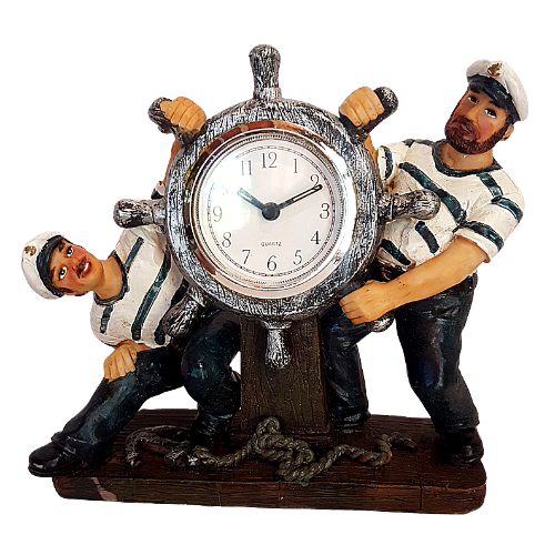 Ahoy Sailor- Ships wheel Clock