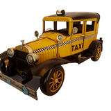 1933 Model T Old Yellow Taxi Cab Tin/Metal Model