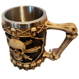 Skull and Crossbones Gothic Beer Stein