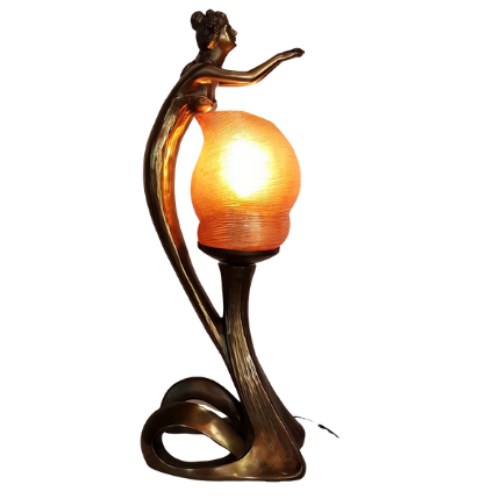 Art Nouveau Lady Table Lamp