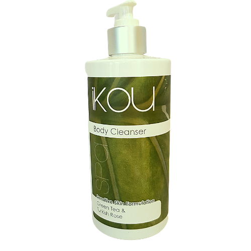 iKOU Body Cleanser- Green Tea & Turkish Rose