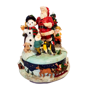 Musical Christmas Figurine