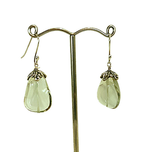 Green Amethyst and Sterling Sliver Earrings