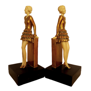 Art Deco Girl Bookends