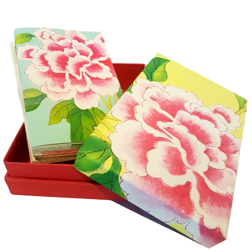 Peony Rose Note Cards Set