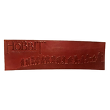 The Hobbit An Unexpected Journey Leather Bookmark
