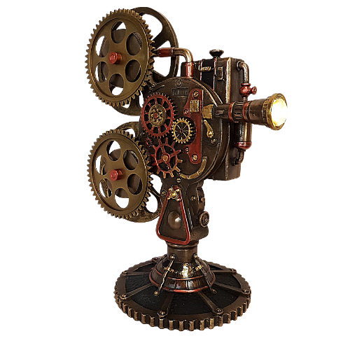 Steampunk Film Projector With LED Light Display Only