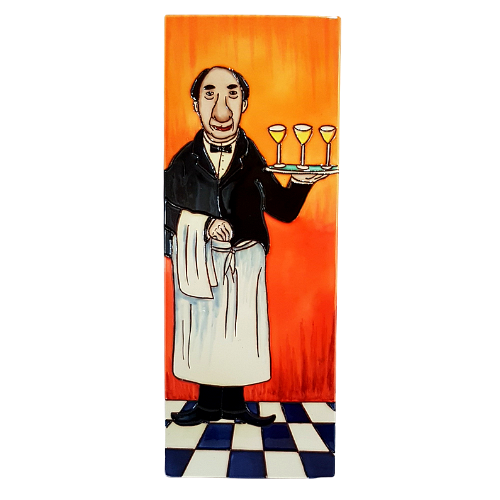 Louis  The French Waiter Ceramic  Picture Tile