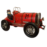 Red Old Fashion Racing Car Model