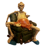 The Couch Potato, To much effort to Eat! Skeleton Figurine