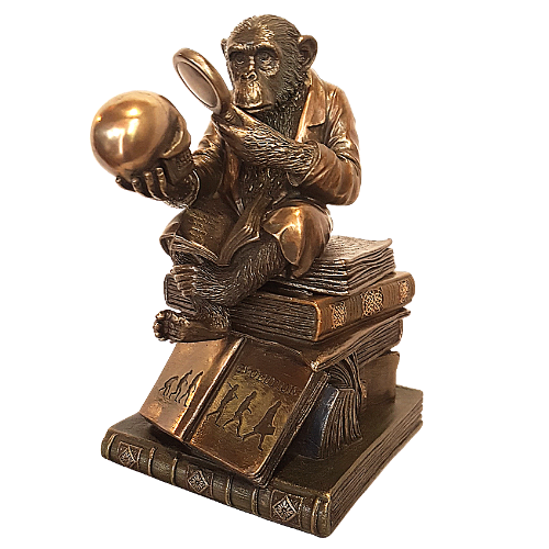 The Thinker- Ape Scholar Keepsake Box