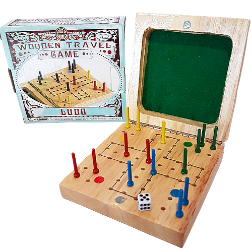 Ludo Wooden Travel Set Game