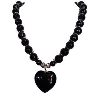 Gothic Love - Black Agate and .925 Sterling Silver Chocker