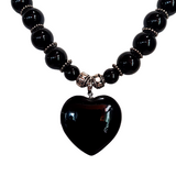 Gothic Love - Black Agate and Sterling Silver Chocker