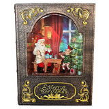 Light Up Magical Elf and Santa Christmas Water Book