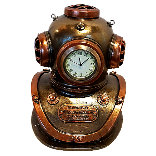 Titanic Diving Helmet Steampunk Clock