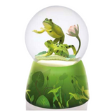 Frogs on Lilly Pad Musical Rotating Water Globe