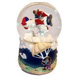 Magnificent Mice in Their Flying Machines Musical Glitter Globe